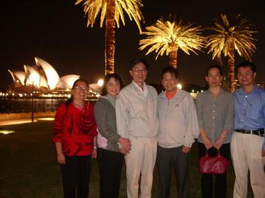 美国著名诗人非马伉俪、巫逖伉俪、美祉、巫朝晖2008年3月于悉尼