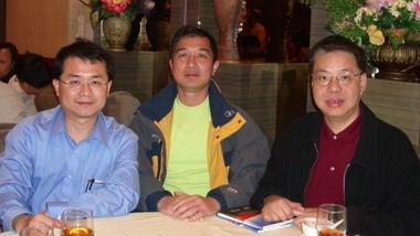 2006年巫朝晖先生(香港气功太极社社名誉顾问)会晤香港气功太极社社长林业文辉先生 和香港中国文化促进会会长李国强先生。